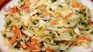Салат из Свежей Капусты с Морковью Как Приготовить Капустный Салат с Морковью