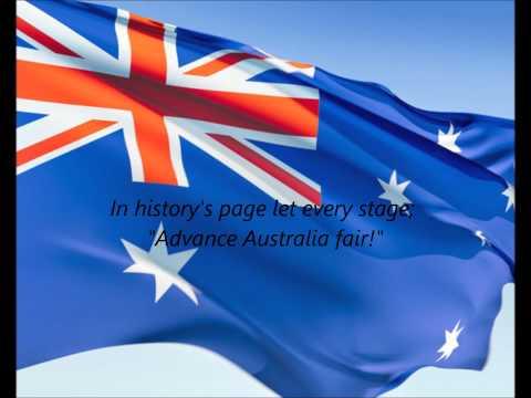 "Australian National Anthem - ""Advance Australia Fair"" (EN)"