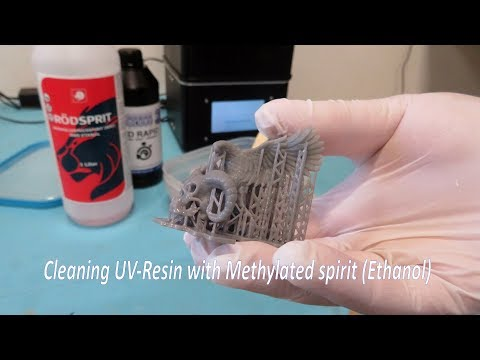 Make your UV-prints more affordable, Cleaning UV-Resin with Methylated Spirit (Ethanol)