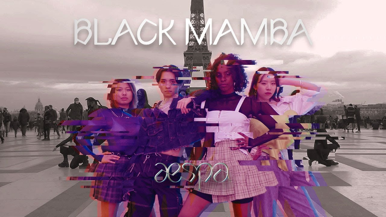 [KPOP IN PUBLIC] aespa 에스파 'Black Mamba' Dance Cover in Paris from France (w/ back dancers)