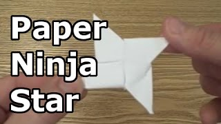 How To Make A Paper Ninja Star Or Shuriken - Origami