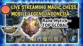 🔴 LIVE PUSH RANK MAGIC CHESS MOBILE LEGEND  MYTHIC - TOP GLOBAL 1 MAGIC CHESS BANG BANG INDONESIA