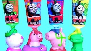 tintas de banho do pig george e peppa pig no escorregador com a elsa em portugues br brasil toys