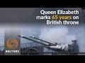 Gun salute in honor of Queen Elizabeth II