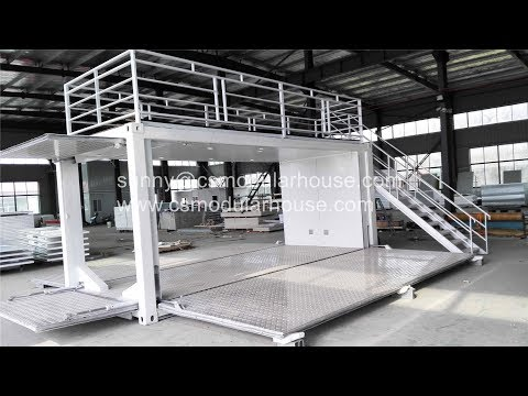 20ft hyraulic pop up coffee shop/cafe/bar container house