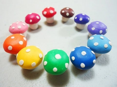 How To Make Polymer Clay Mushroom Ep Simplekidscrafts