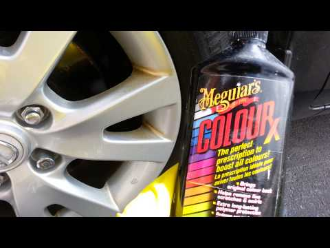 How to clean brown & rust stains off painted rims