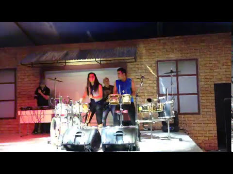 Duo Percussion Indonesia on batucada stye cover drums