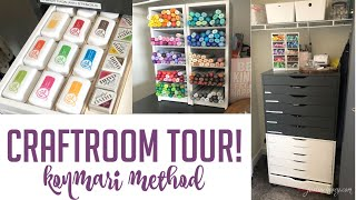 Craft Room Tour using Konmari Method + Organizing my Craftroom Part 3