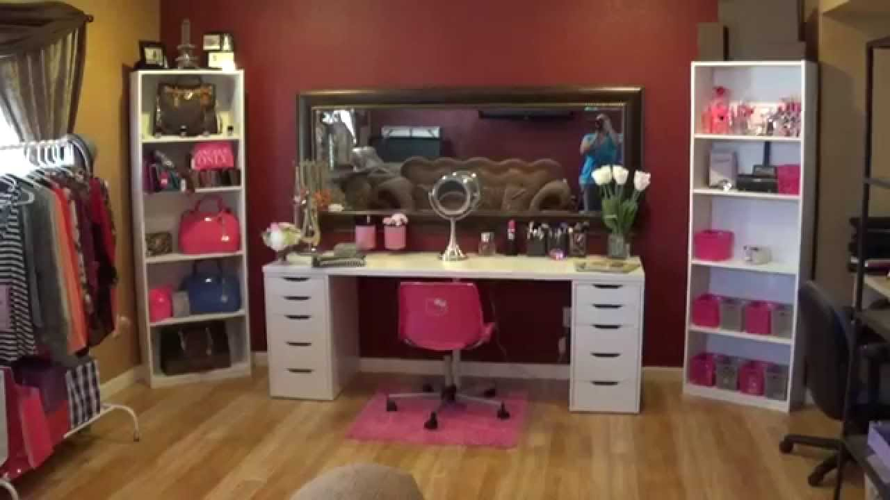 El tour de mi cuarto de maquillaje youtube for Como decorar mi cuarto pequeno