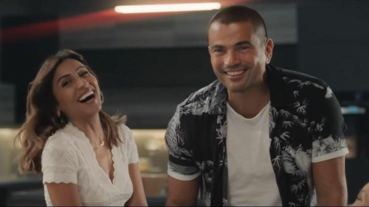 صدى البلد - فيديوجراف |  زواج عمرو دياب ودينا الشربيني رسميًا - YouTube