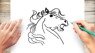 How to Draw Horses for Children Step by Step