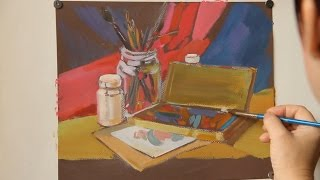 «Уроки рисования». Гуашь (30.10.2015)
