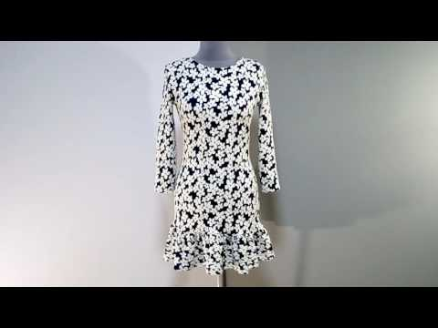 Платье с воланом по низу, платье длины мини
