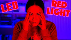 Ich sehe ROT 😝LED Lights Makeup Challenge 🛑