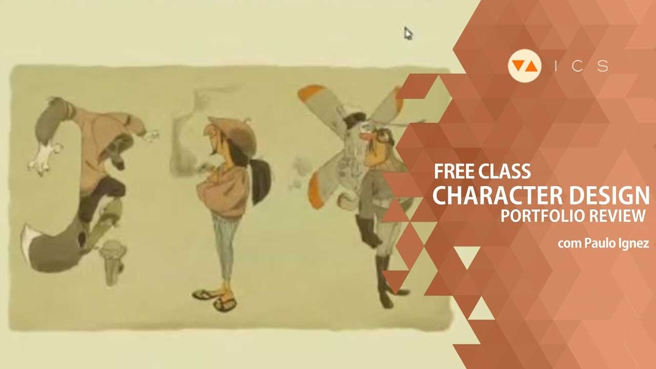 Animation Character Design Portfolio : Free class review de character design youtube