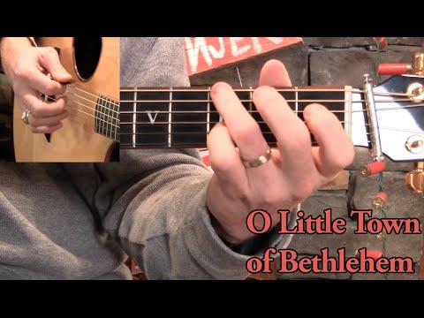 O Little Town Of Bethlehem Guitar Lesson Youtube