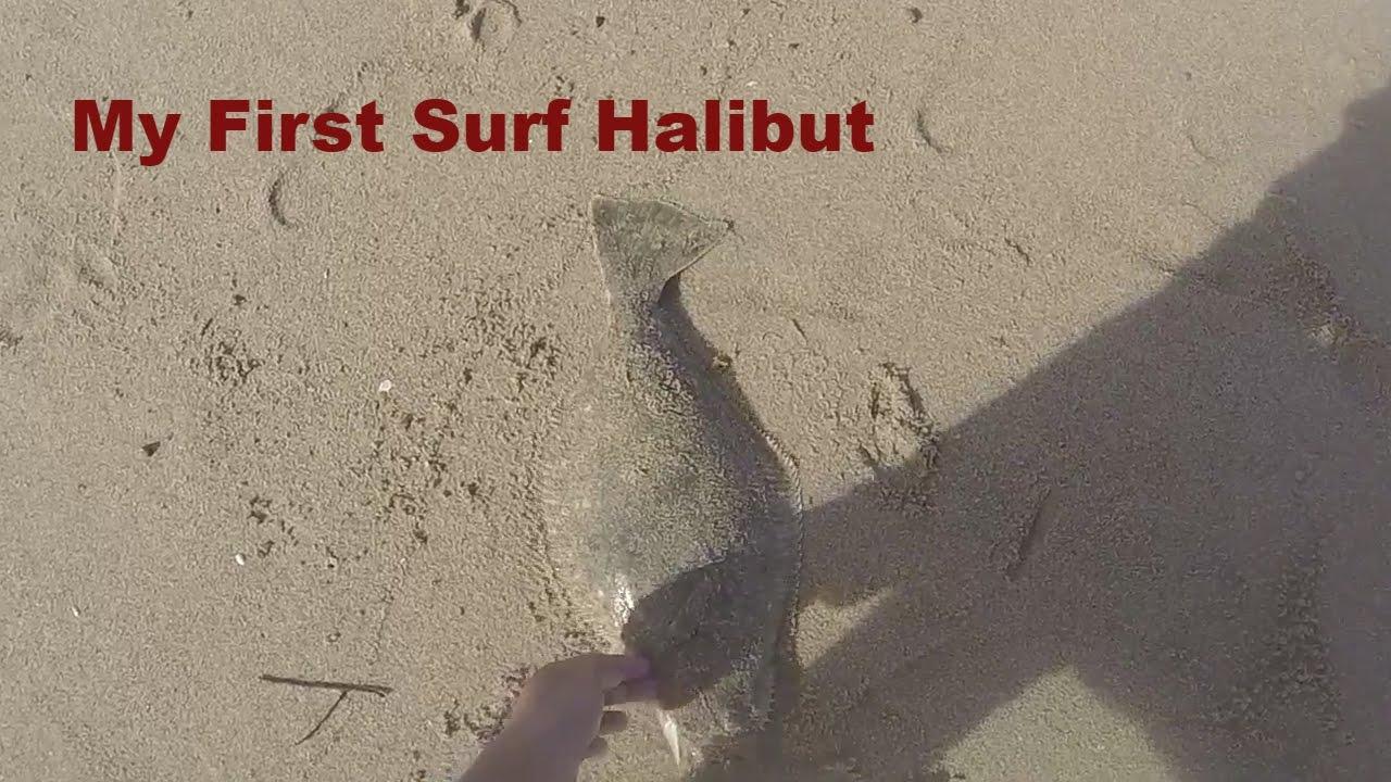 Sunset Beach Surf Fishing Ft Jimmy Aka Slaya My First Halibut