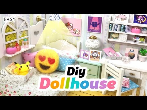 diy-fandom-dollhouse!!-cute-miniature-room-decor-with-undertale,-neko-atsume,-emoji,-pusheen-&-co!