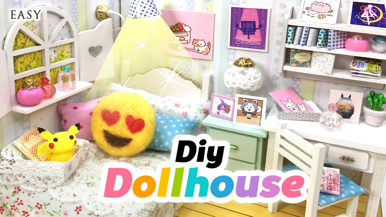 Diy fandom dollhouse cute miniature room decor with for Room decor stuff