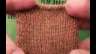 Вязание образца спицами - Knitting pattern