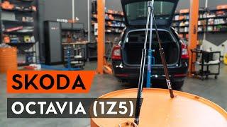 Montaż Sprężyna gazowa pokrywy bagażnika SKODA OCTAVIA: instrukcje wideo