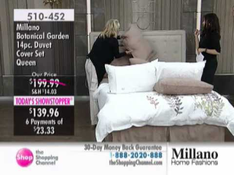 Millano Botanical Gardens 14 Piece Duvet Cover Set at The Shopping Channel 510452