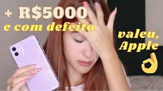 COMPREI UM iPHONE 11 E VEIO COM DEFEITO - unboxing iPhone 11 roxo