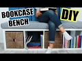 DIY Bookcase Bench
