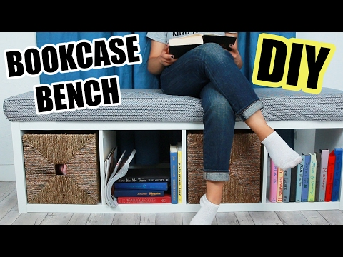 DIY Bookcase Bench