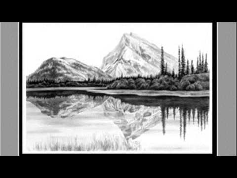 pencil drawing landscape - YouTube