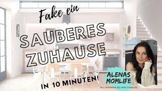 Fake a clean Home under 10 Minutes! / Ein sauberes Zuhause faken unter 10 Minuten!