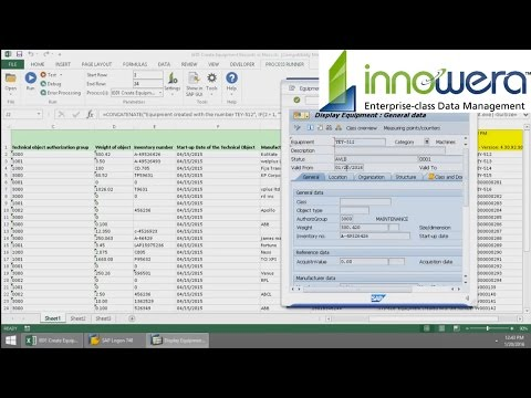 IE01 - Create Equipment From Excel