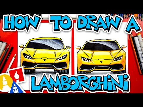 How To Draw A Lamborghini (Front View)