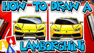 How To Draw A Lamborghini Huracan (Front View)