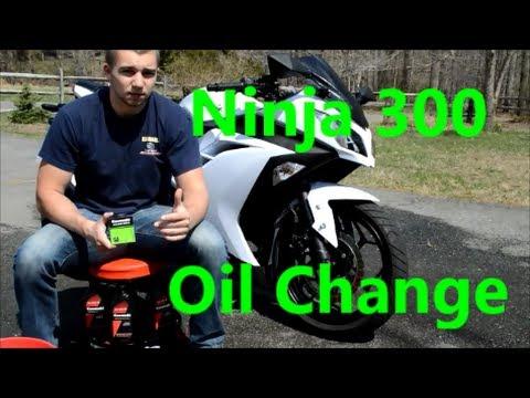 How To Change The Oil Filter On The Kawasaki Ninja 300 2013 2014