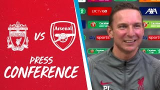 Liverpool's Carabao Cup press conference | Pep Lijnders previews Arsenal