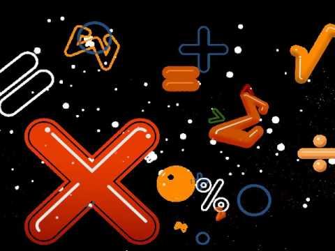 Футаж математические  символы 2