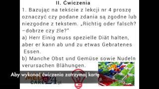 Lekcja 4 - jezyk niemiecki ćwiczenia darmowy kurs języka niemieckiego Medcare24