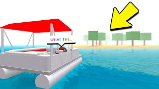 VISITING THE SECRET ISLAND! (Roblox Work At A Pizza Place)