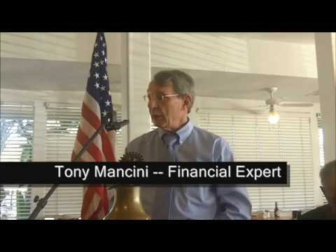 KIWANIS PALM SPRINGS SPEAKER -- Tony Mancini, Financial Expert