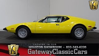 1974 DeTamso Pantera Gateway Classic Cars #984 Houston Showroom