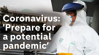 'Prepare for potential Coronavirus pandemic' warns World Health Organisation