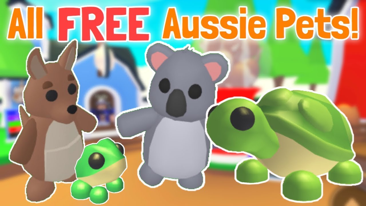 How To Get All Free Australian Pets Adopt Me Update Youtube