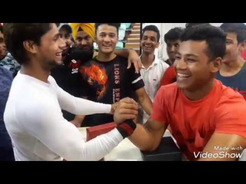 VIKAS KUMAR (AKA ONLY POWER) ALL ARM WRESTLING PRACTICE MATCHES CWAC  - 2017