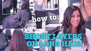 how to create short layers on long hair