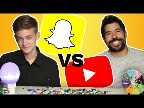 Snapchater VS. YouTuber in LEGO Challenge Showdown! | BRICK X BRICK