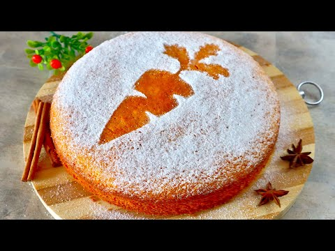 🥕 Ваши дети полюбят морковь! 🥕 Простой РЕЦЕПТ МОРКОВНОГО ПИРОГА 🥧