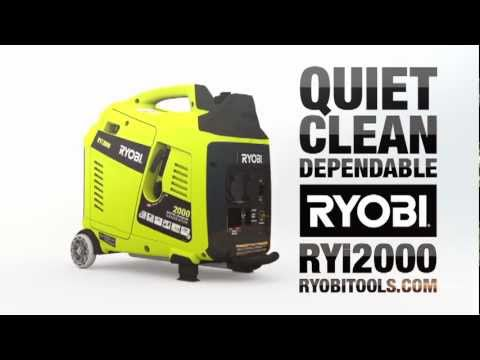 RYOBI RYi2000 Quiet Series Power Generator promo