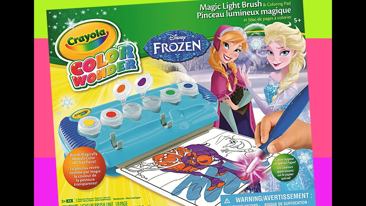Disney FROZEN Crayola Color Wonder coloring book - YouTube